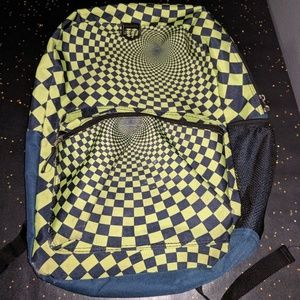 Used-Star Point Psychedelic checkered backpack